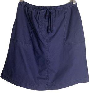 L.L. Bean Navy Blue Mini Skirt